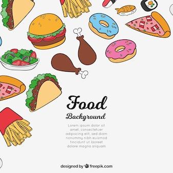 Fondo con comida deliciosa