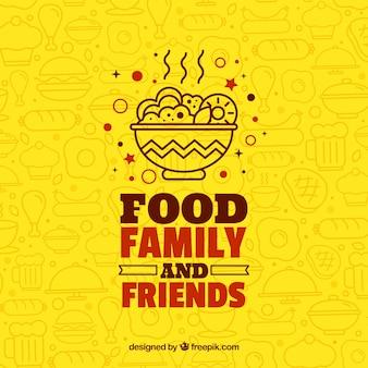 Fondo con diferentes comidas