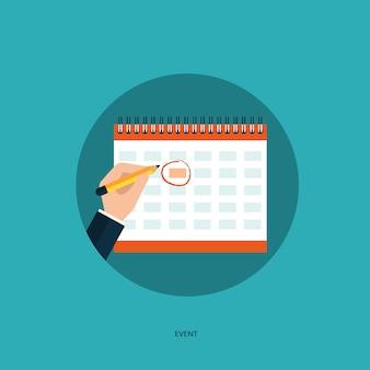Fondo con diseño de calendario