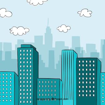 Fondo con diseño de ciudad
