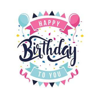 Fondo con diseño de cumpleaños feliz