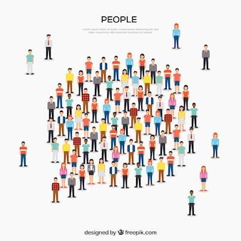 Fondo con diseño de personas