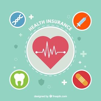 Fondo con diseño de seguro de salud