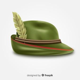 Fondo con sombrero clásico de oktoberfest estilo realista