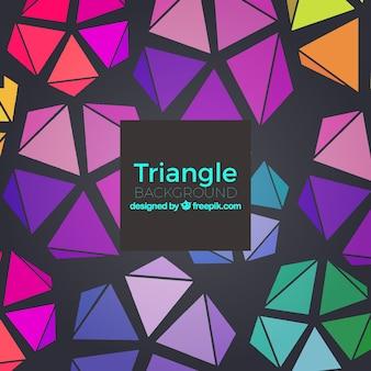 Fondo con triángulos 3d
