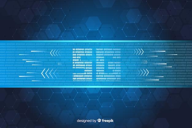 Fondo de concepto 5g con hexágonos