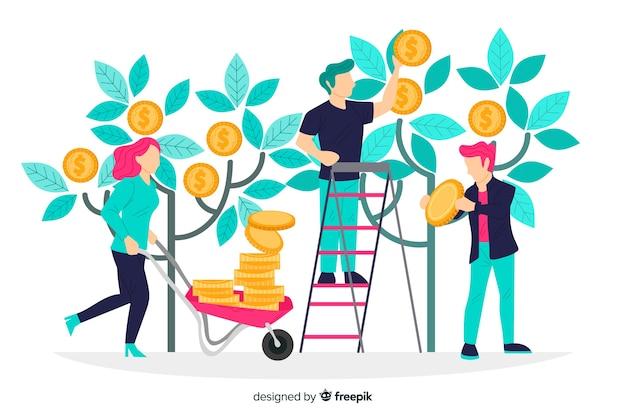 Fondo concepto ahorrar dinero