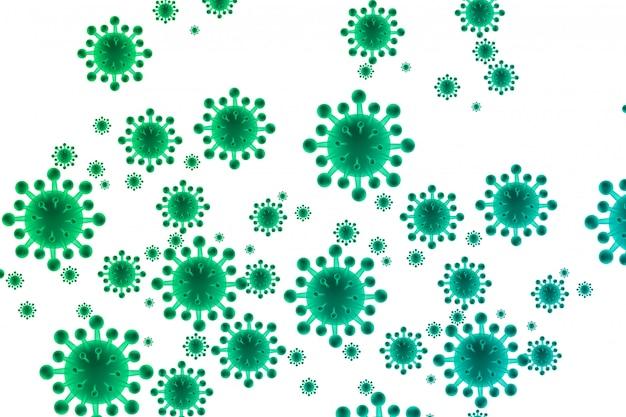 Fondo de concepto biológico de bacterias