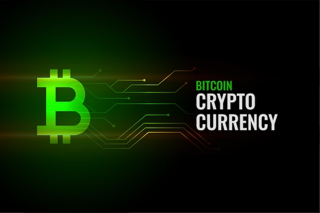 Fondo del concepto de bitcoin con líneas de circuito