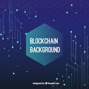 Fondo de concepto blockchain