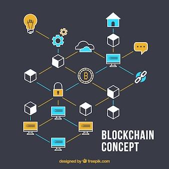 Fondo de concepto de cadena de bloques