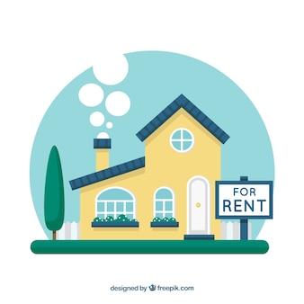 Fondo con concepto de casa en alquiler