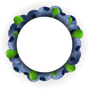 Fondo de concepto de círculo de arándano, estilo de dibujos animados