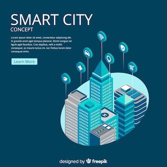 Fondo concepto ciudad inteligente