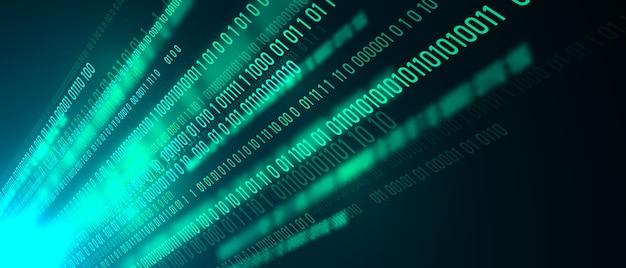 Fondo de concepto de comunicación de tecnología de datos de computadora de información abstracta