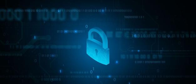 Fondo de concepto de comunicación de tecnología de datos de computadora de seguridad de información abstracta