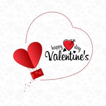 Fondo de concepto de correo electrónico feliz día de san valentín