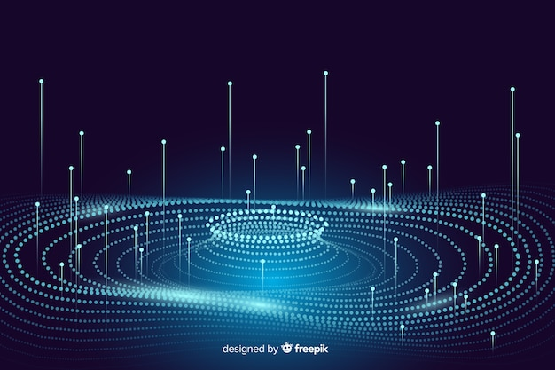 Fondo de concepto de datos abstractos brillantes