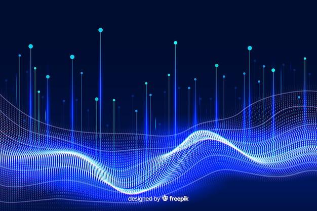Fondo de concepto de datos grandes con diseño abstracto