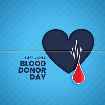 Fondo del concepto del día del donante de sangre de junio