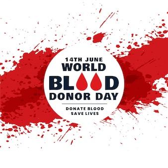Fondo de concepto de día de donante de sangre mundo abstracto