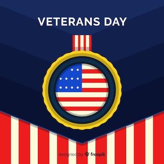 Fondo concepto día de los veteranos con bandera usa