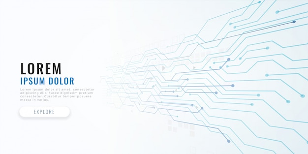 Fondo de concepto de diagrama de circuito de tecnología