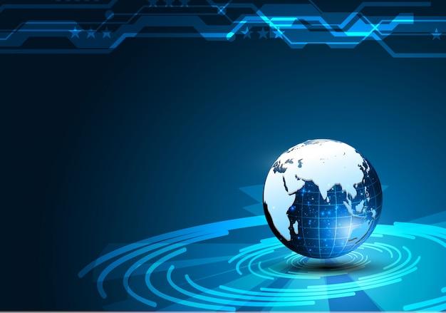 Fondo de concepto de diseño futurista cibernético de tecnología de ciencia ficción