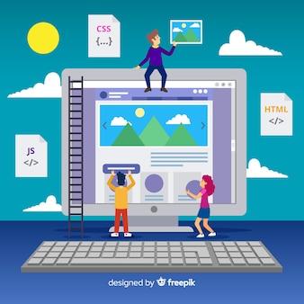 Fondo concepto diseño web