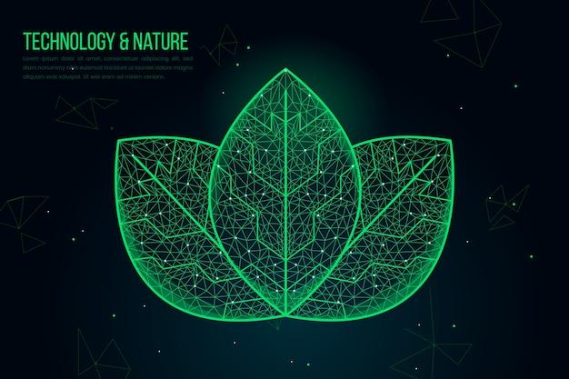 Fondo del concepto de ecología tecnológica