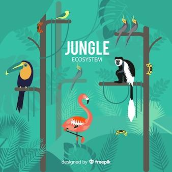 Fondo concepto ecosistema jungla