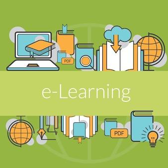 Fondo del concepto de educación e-learning