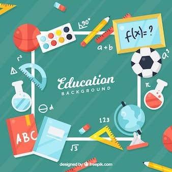 Fondo de concepto de educación