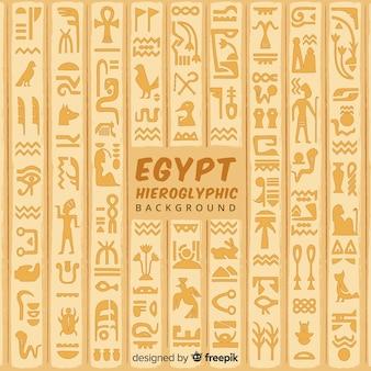 Fondo concepto egipto con geroglíficos