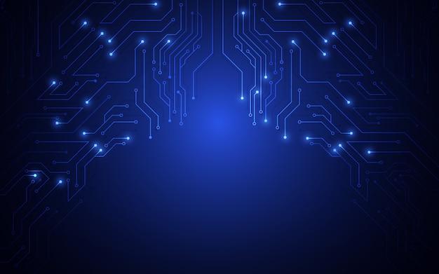 Fondo de concepto de electrónica de patrón de circuito
