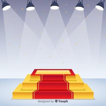 Fondo concepto escenario con luces