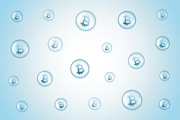 Fondo de concepto de especulación de burbuja de bitcoin vector gratuito