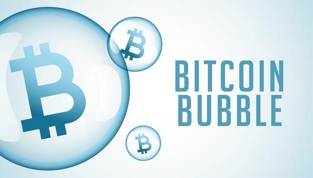 Fondo de concepto de especulación de burbuja de criptomoneda bitcoin