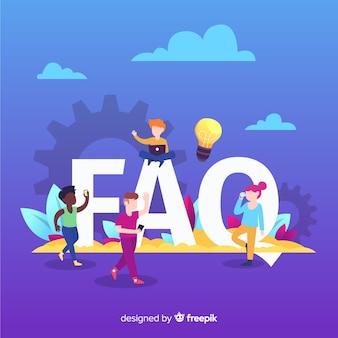 Fondo de concepto de faq