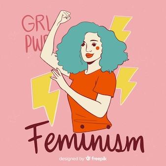 Fondo concepto feminista