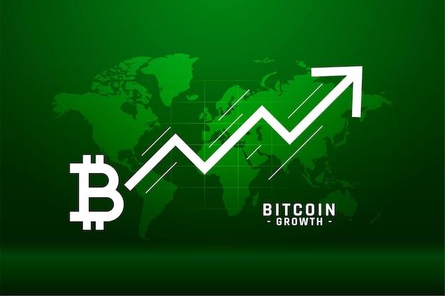 Fondo de concepto de gráfico de crecimiento global de bitcoin