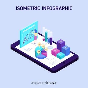 Fondo concepto infografía isométrico