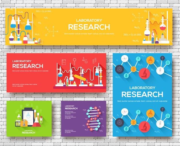 Fondo de concepto de infografía de química