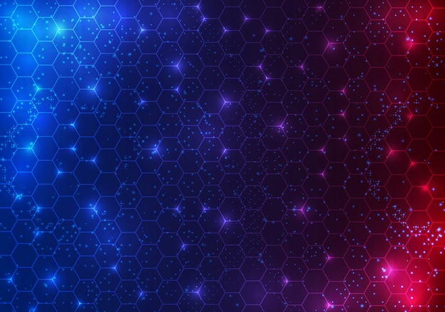 Fondo de concepto de innovación de tecnología futurista círculo abstracto ciencia ficción