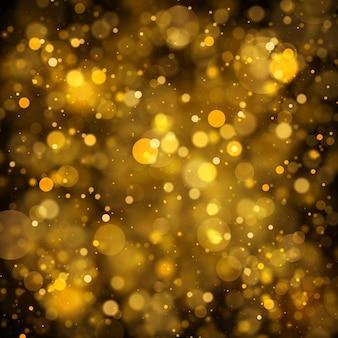 Fondo de concepto mágico de partículas de polvo mágico brillante de navidad con vector de efecto bokeh