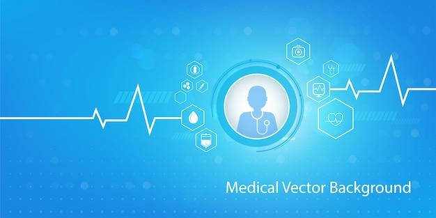 Fondo de concepto de medicina y ciencia