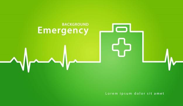 Fondo de concepto médico de caja de primeros auxilios