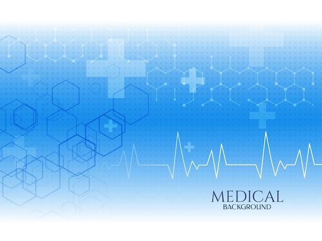 Fondo de concepto médico de color azul de atención médica