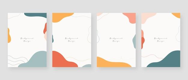 Fondo de concepto mínimo. fondos abstractos de memphis con espacio de copia de texto.