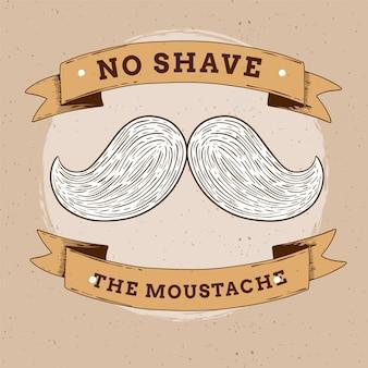 Fondo concepto movember con bigote
